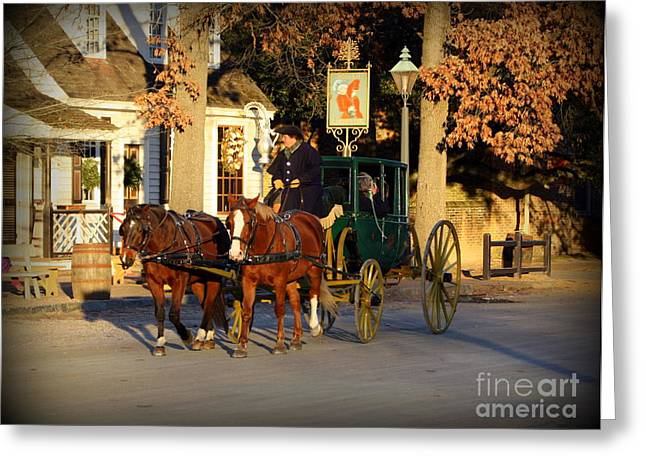 Carriage Ride Greeting Card by Patti Whitten