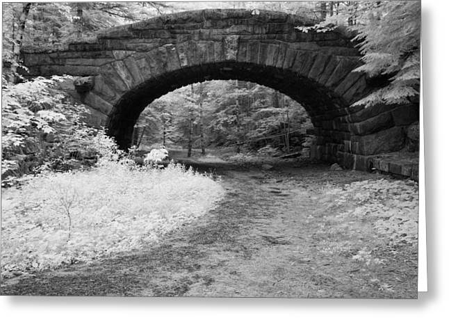 Carriage Road Greeting Cards - Carriage Road Bridge Greeting Card by Michael Blanchette