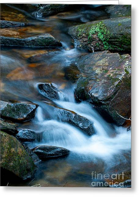 Exposure Greeting Cards - Carrick Creek Cascades  Greeting Card by Optical Playground By MP Ray