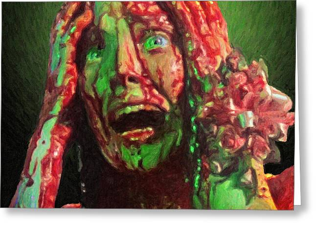Horror Film Greeting Cards - Carrie Greeting Card by Taylan Soyturk