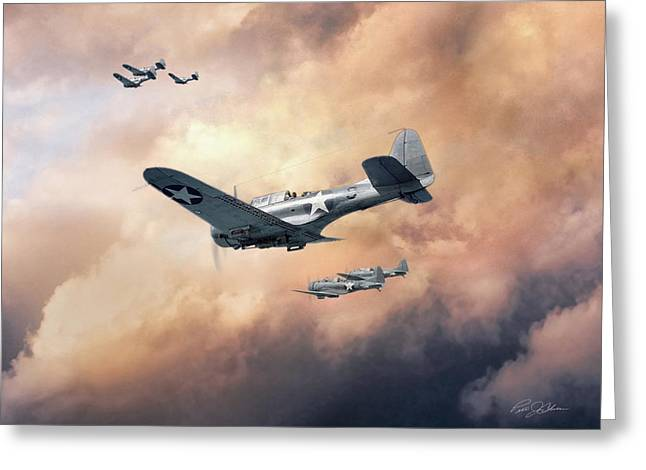 Carrier Digital Art Greeting Cards - Carrier Hunting Greeting Card by Peter Chilelli