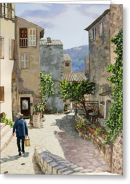 Provence Village Greeting Cards - Carriero Du Pourtegue Greeting Card by Dominique Amendola
