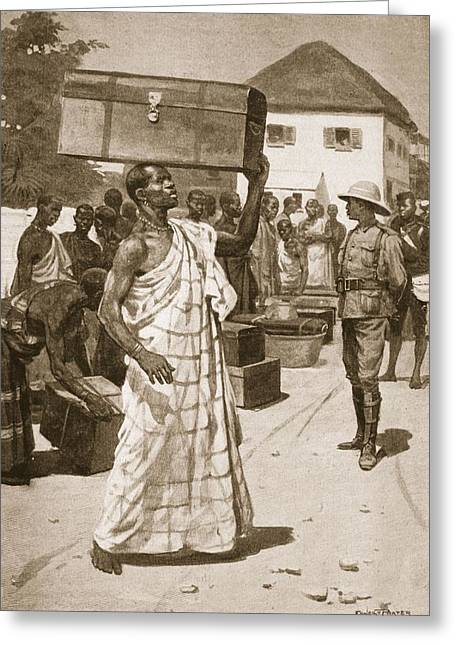 Third Army Greeting Cards - Carriers Starting From Cape Coast Greeting Card by Ernest Prater