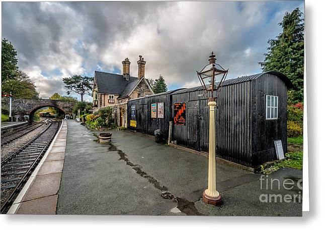 Outdoor Toilets Greeting Cards - Carrog Railway Station Greeting Card by Adrian Evans