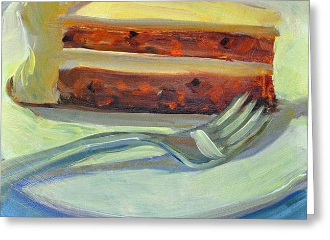 Mary Byrom Greeting Cards - Carrot Cake Greeting Card by Mary Byrom