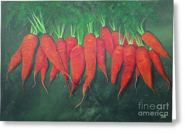 Farm Stand Greeting Cards - Carrots and More Carrots Greeting Card by Tina McCurdy