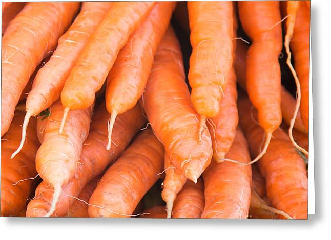Carrots Greeting Cards - Carrots Greeting Card by Rebecca Cozart
