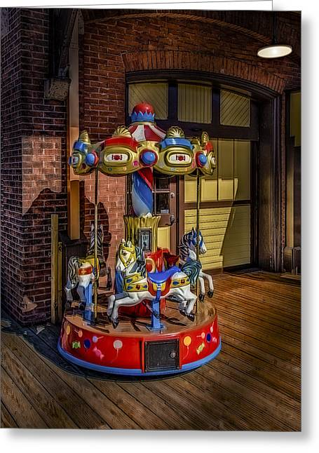 Carrousel Greeting Card by Susan Candelario
