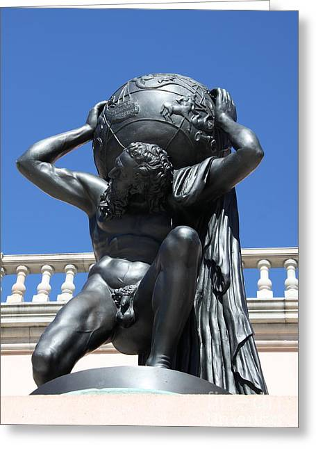 Carry The Earth - Atlas At The Ringling Museum Greeting Card by Christiane Schulze Art And Photography
