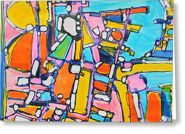 Sharpie Art Greeting Cards - Carry Your Own Joy Greeting Card by Hari Thomas