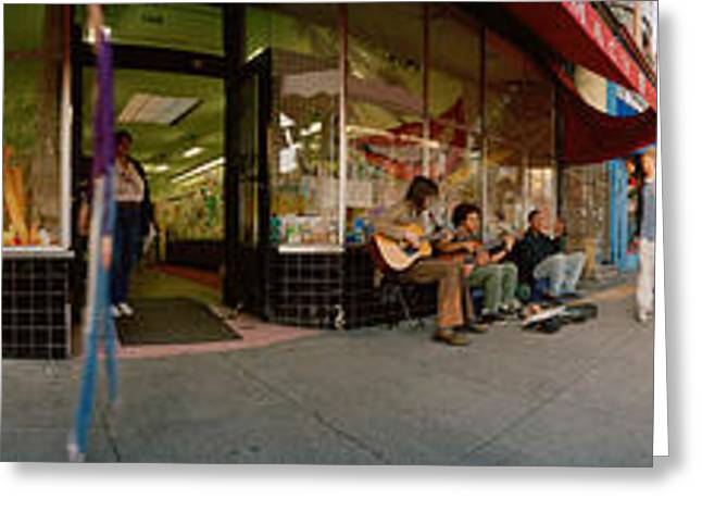 Haight Ashbury Greeting Cards - Cars Parked In Front Of A Store Greeting Card by Panoramic Images