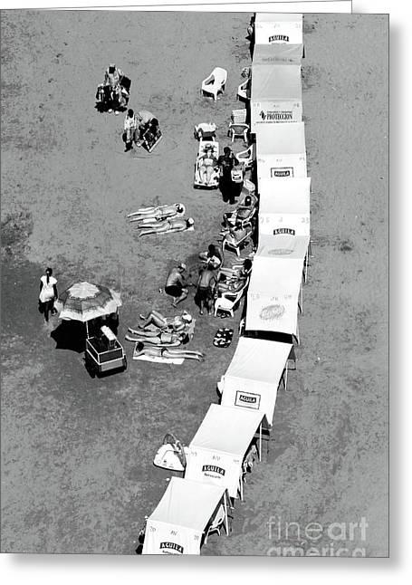 Cartagena Greeting Cards - Cartagena Beach Shade Greeting Card by John Rizzuto