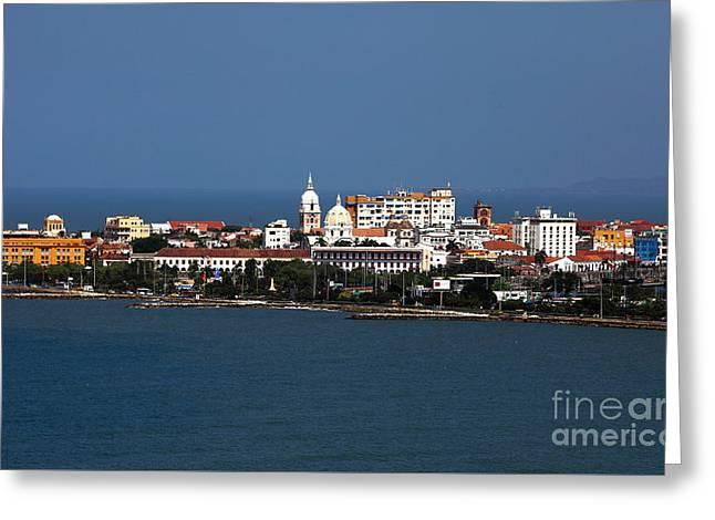 Wall City Prints Greeting Cards - Cartagena Greeting Card by John Rizzuto