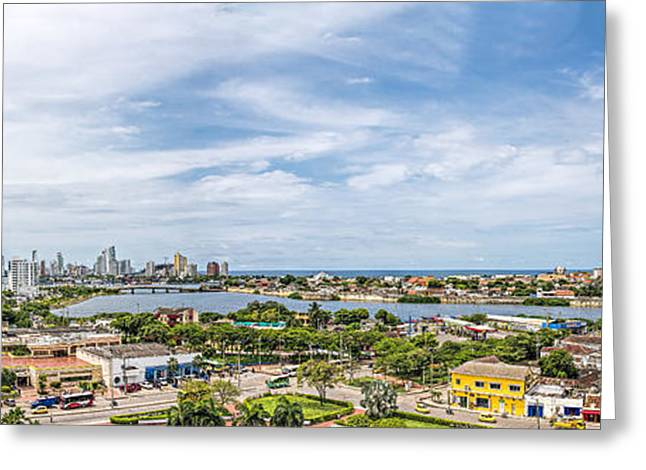 Historic Home Greeting Cards - Cartagena Greeting Card by Maria Coulson