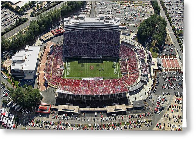 Carter Photographs Greeting Cards - Carter Finley Stadium Greeting Card by Nomad Art And  Design