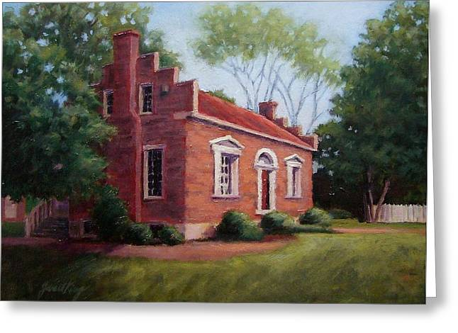 Battlefield Site Paintings Greeting Cards - Carter House in Franklin Tennessee Greeting Card by Janet King