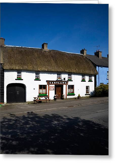 Thatch Greeting Cards - Cartlans Thatched Pub, Kingscourt Greeting Card by Panoramic Images