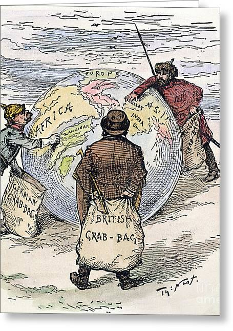 Cartoon - Imperialism 1885 Greeting Card by Granger