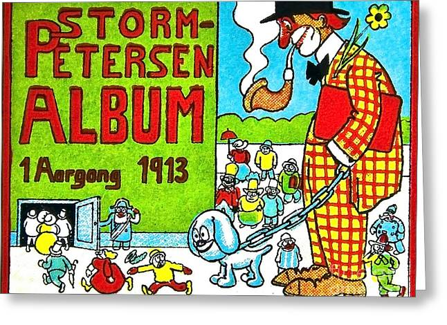 Robert Storm Petersen Greeting Cards - Cartoon 01 Greeting Card by Svetlana Sewell