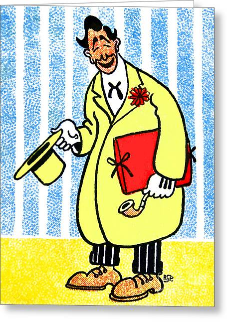 Robert Storm Petersen Greeting Cards - Cartoon 04 Greeting Card by Svetlana Sewell