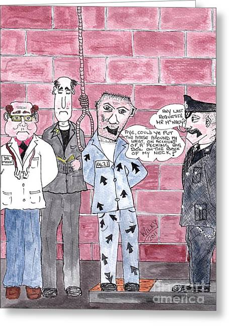Cartoon Greeting Card by Alan Wilkinson