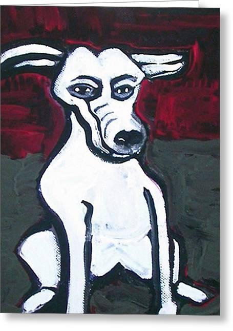 Amy Artwork Greeting Cards - Cartoon Dog Greeting Card by Amy Marie Adams