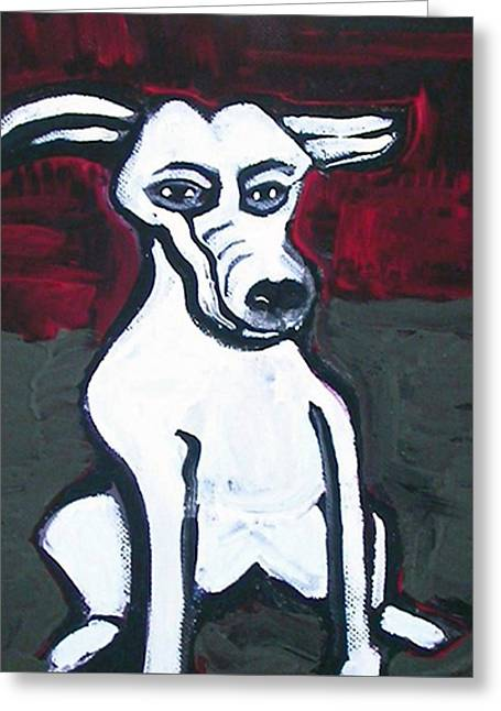 Cartoon Dog Greeting Card by Amy Marie Adams