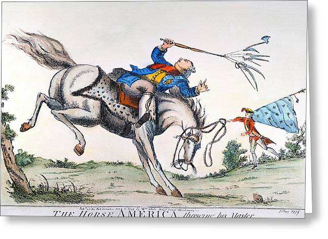 CARTOON: OUTCOME, 1779 Greeting Card by Granger