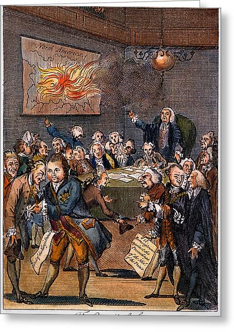 1770s Greeting Cards - Cartoon: Politicians Greeting Card by Granger