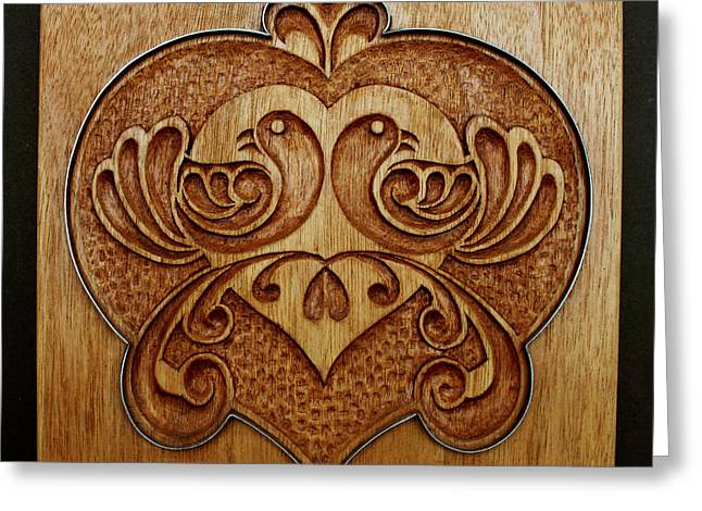 Hands Sculptures Greeting Cards - Carved Cookie Mold 10 Greeting Card by Hanne Lore Koehler