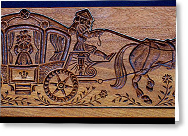 Wooden Sculpture Greeting Cards - Carved Cookie Mold 21 Greeting Card by Hanne Lore Koehler