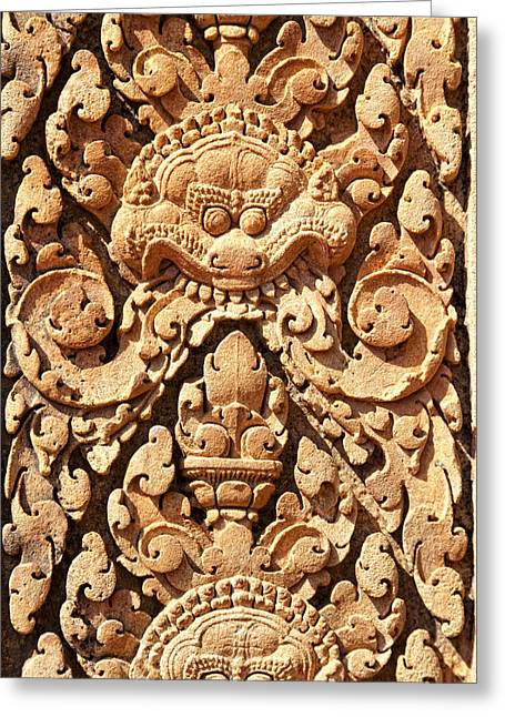 Indochina Greeting Cards - Carved in stone Greeting Card by Alexey Stiop