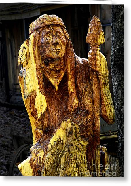 Wood Carving Greeting Cards - Carved in Wood Greeting Card by Paul W Faust -  Impressions of Light