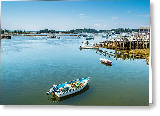 Carver Greeting Cards - Carvers Harbor Vinalhaven Maine Greeting Card by Tim Sullivan