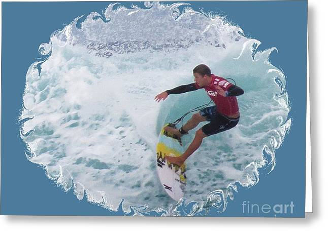 Surfing Photos Greeting Cards - Carving a Turn Greeting Card by Scott Cameron