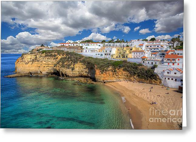Praia De Faro Greeting Cards - Carvoeiro Algarve Portugal Greeting Card by English Landscapes