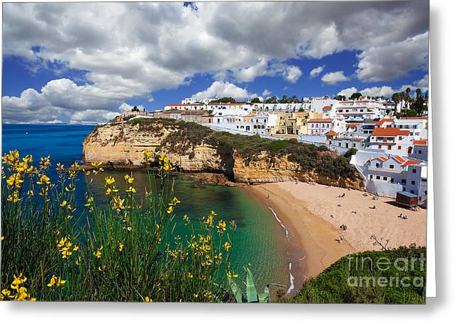 Praia De Faro Greeting Cards - Carvoeiro Greeting Card by English Landscapes