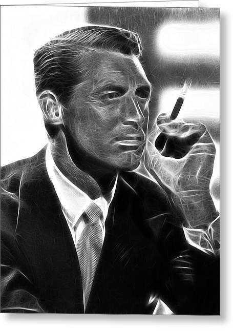 1946 Movies Greeting Cards - Cary Grant Greeting Card by Michael Braham