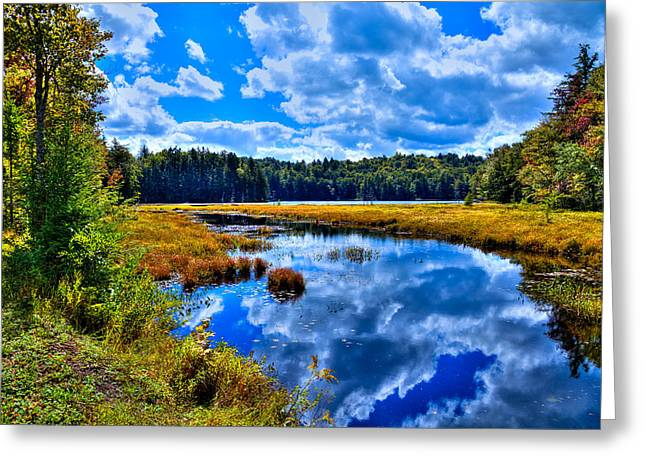 Cary Lake near Old Forge New York Greeting Card by David Patterson