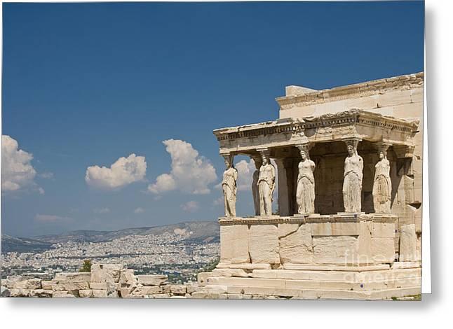 Recently Sold -  - Greek Sculpture Greeting Cards - Caryatids Greeting Card by Gabriela Insuratelu