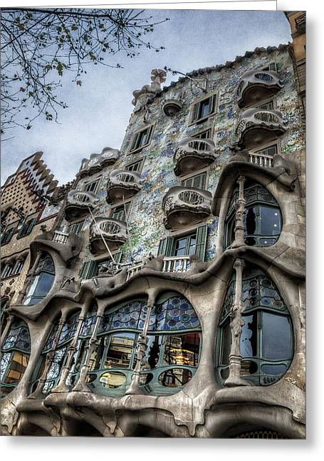 Modernism Greeting Cards - Casa Batllo Barcelona Greeting Card by Joan Carroll