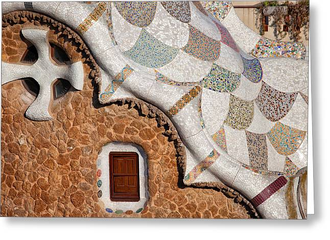 Catalunya Greeting Cards - Casa del Guarda Details in Park Guell Greeting Card by Artur Bogacki