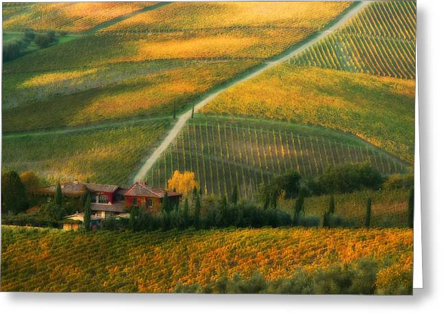 Chianti Digital Art Greeting Cards - Casa di Andrea Greeting Card by John Galbo