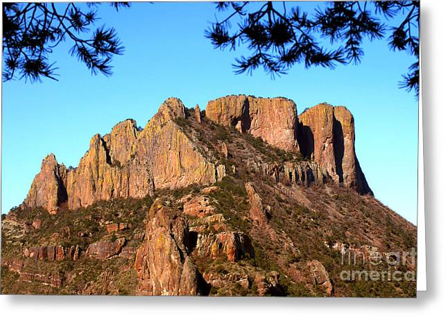 Casa Grande Greeting Cards - Casa Grande Mountain, Big Bend, Texas Greeting Card by Gregory G. Dimijian, M.D.