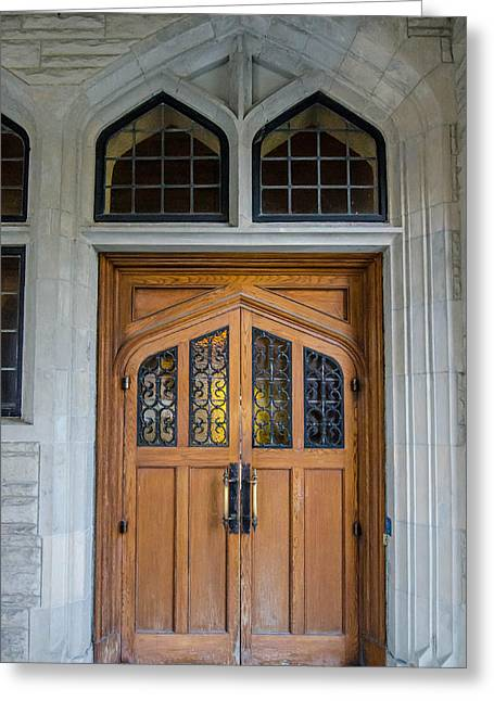 Entrance Door Greeting Cards - Casa Loma Door Greeting Card by Guy Whiteley