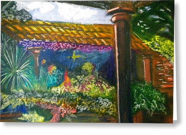 Casa Luna Greeting Card by Debi Starr
