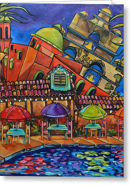 Riverwalk Greeting Cards - Casa Rio III Greeting Card by Patti Schermerhorn