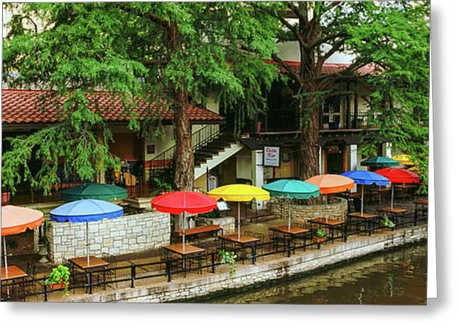 Casa Rio Restaurant At San Antonio Greeting Card by Panoramic Images