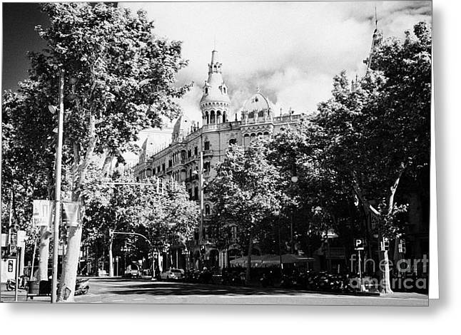 Catalunya Greeting Cards - Casa Rocamora Passeig De Gracia Barcelona Catalonia Spain Greeting Card by Joe Fox