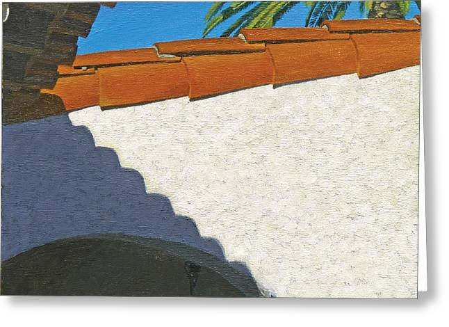 Clemente Paintings Greeting Cards - Casa Romantica Three Greeting Card by Michael Ward